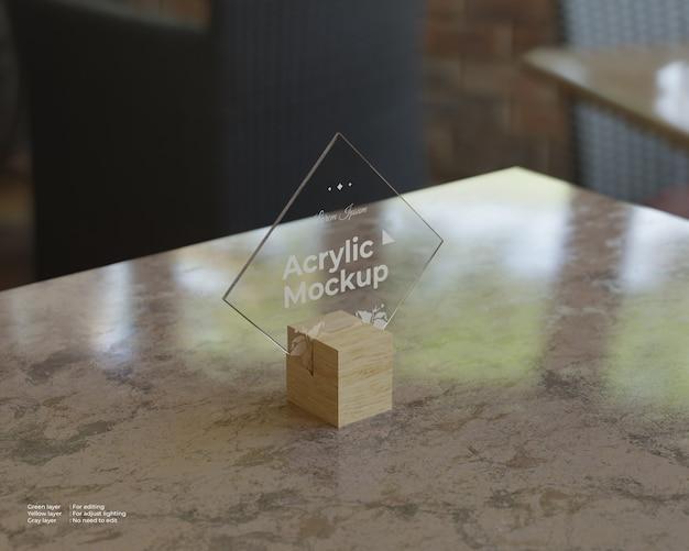 Makieta akrylowa w kształcie rombu