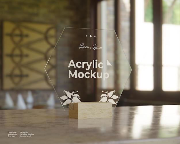 Makieta akrylowa zawieszka w kształcie sześciokąta