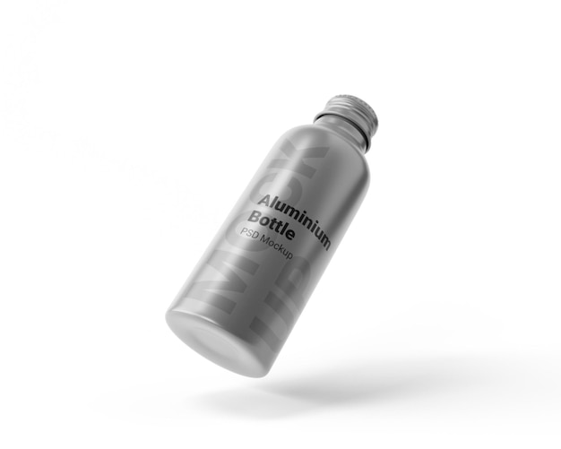 Makieta aluminiowej butelki