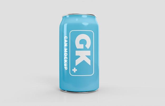 Makieta aluminiowej puszki piwa lub sody