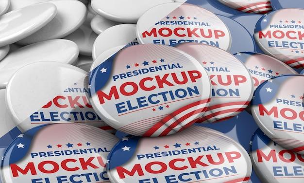 Makieta amerykańskich insygniów do głosowania