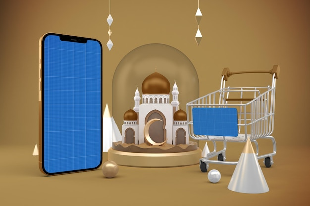 Makieta aplikacji ramadan shopping