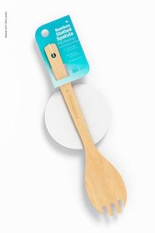 Makieta bambusowej szpatułki z rowkiem