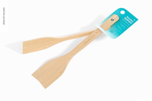 Makieta bambusowych szpatułek