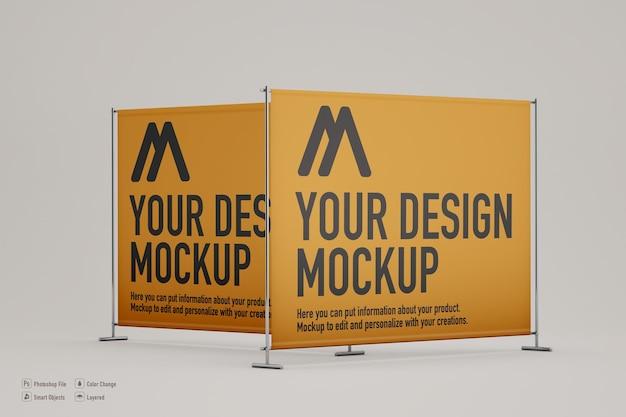 Makieta banera wystawcy w delikatnym kolorze