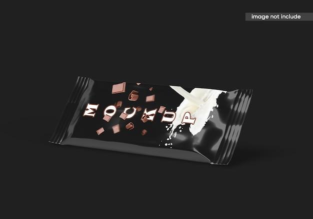 Makieta batonika czekoladowego na białym tle