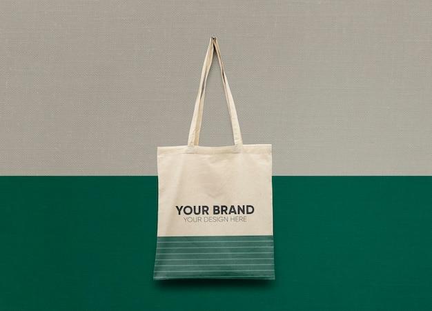 Makieta bawełnianej torby na ramię premium psd