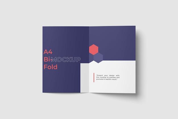 Makieta bi broszury / ulotki a4 widok z góry