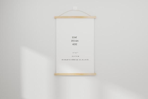 Makieta biała realistyczna pusta ramka na zdjęcia