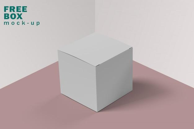 Makieta białego i czystego pudełka