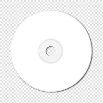 Makieta biały cd - dvd na białym tle