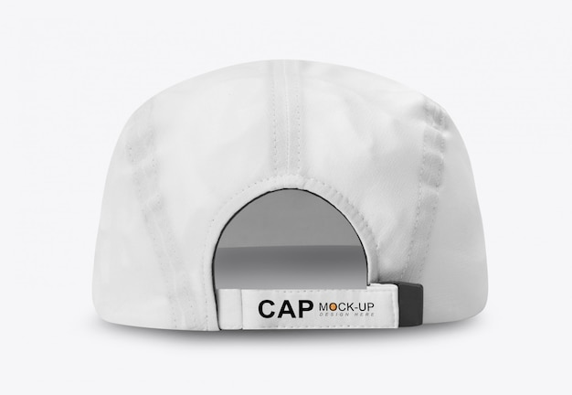 Makieta biały czapka z daszkiem widok z tyłu