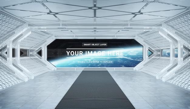 Makieta biały statek kosmiczny