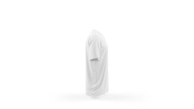 Makieta biały t-shirt szablon na białym tle, widok z boku