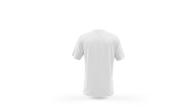 Makieta biały t-shirt szablon na białym tle, widok z tyłu