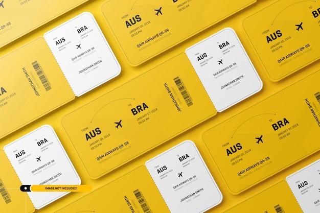 Makieta biletów lotniczych