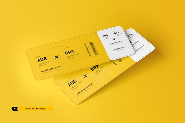 Makieta biletu lotniczego