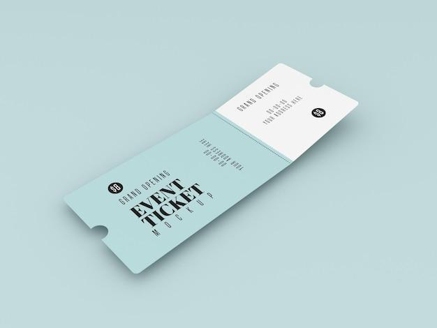 Makieta biletu na wielkie otwarcie