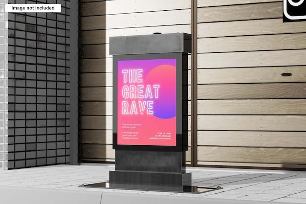 Makieta billboardu lightbox