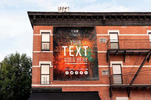 Makieta billboardu na budynku
