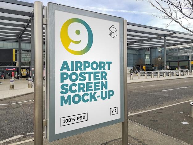 Makieta billboardu na lotnisku