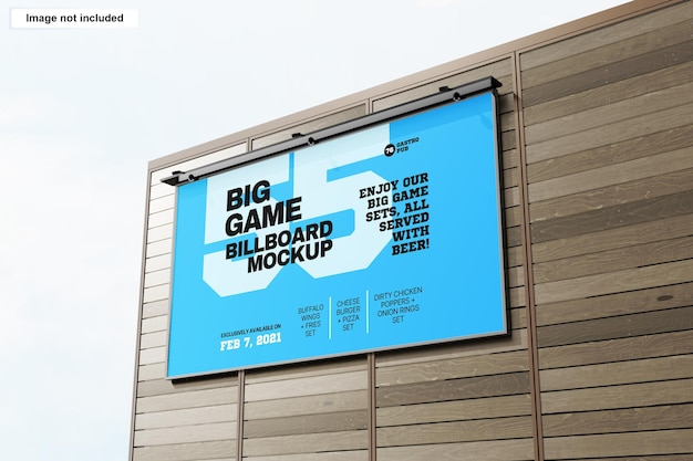 Makieta billboardu na zewnątrz budynku