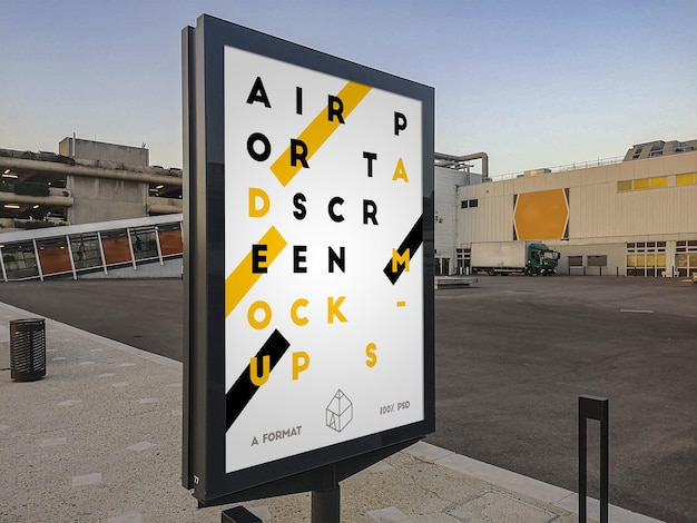 Makieta billboardu ulicy lotniska
