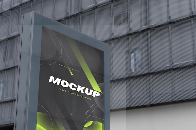 Makieta billboardu ulicznego do promocji