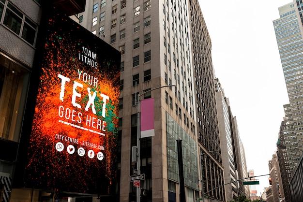 Makieta billboardu w mieście