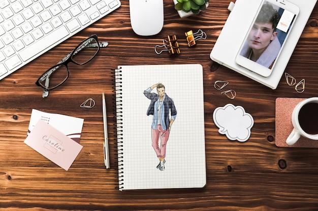 Makieta biurka biznesowego