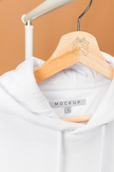 Makieta bluza z kapturem z bliska