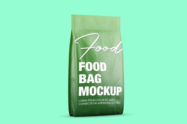 Makieta błyszczącej torby na żywność