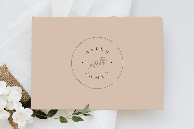 Makieta botanicznego zaproszenia na ślub