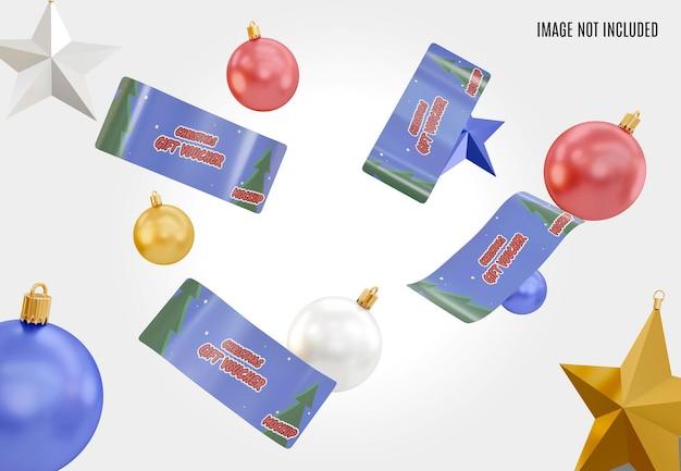 Makieta bożonarodzeniowego bonu