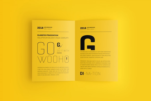 Makieta broszurowa a4 / a5 bifold