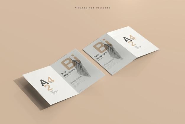 Makieta broszury a4 bi fold