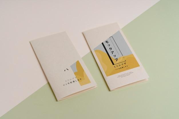 Makieta broszury abstrakcyjnych kształtów