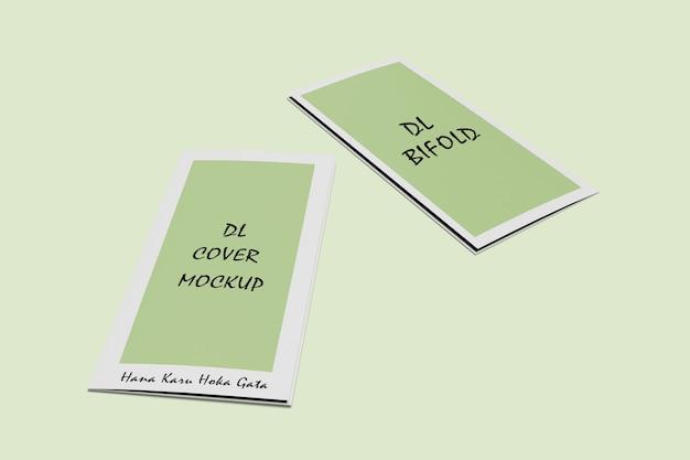 Makieta broszury bifold dl na białym tle