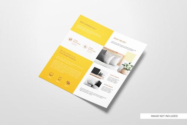 Makieta broszury bifold flyer