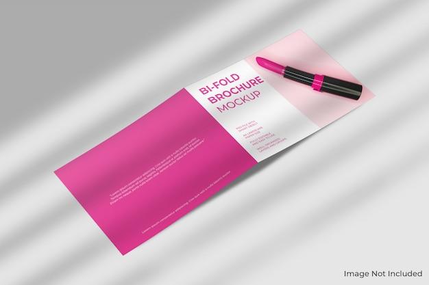Makieta broszury bifold formatu a4 z cieniem