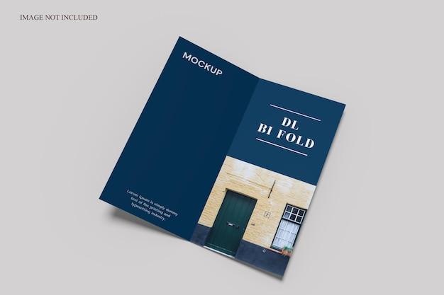 Makieta broszury bifold w rozmiarze dl