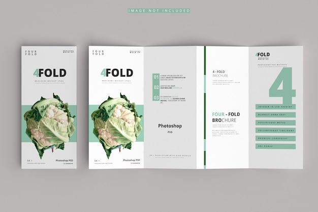 Makieta broszury czterokrotnie