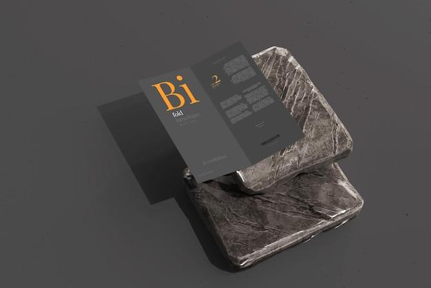 Makieta broszury dl size bifold