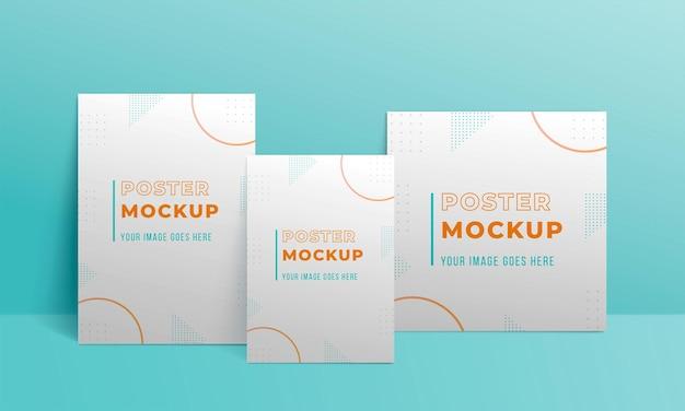 Makieta broszury koncepcja nakładki cienia