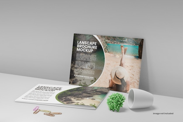 Makieta broszury krajobrazowej