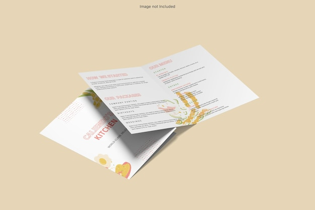 Makieta broszury menu