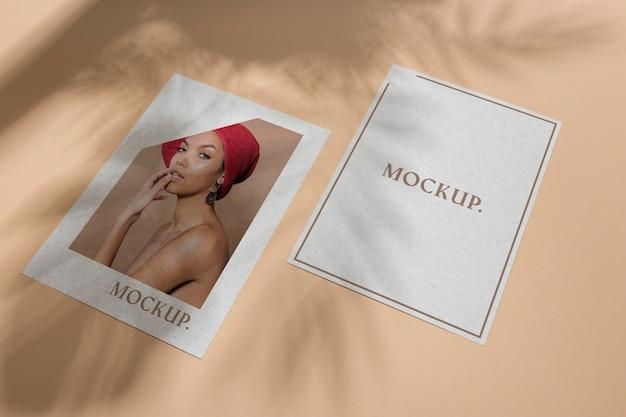 Makieta broszury nakładka cienia płaska