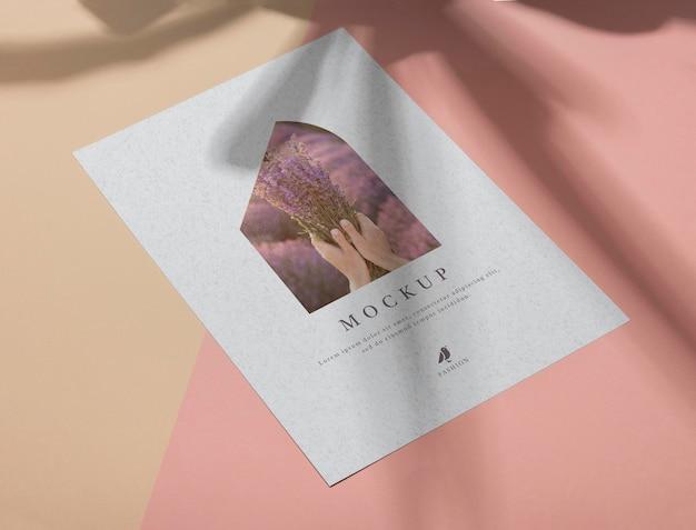 Makieta broszury nakładka cienia widok z góry