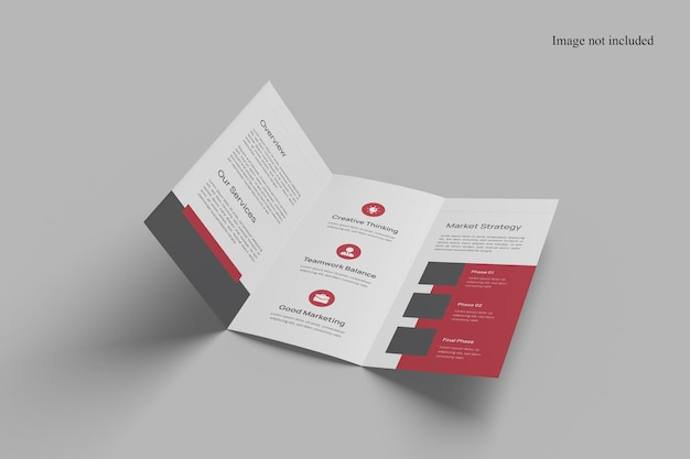 Makieta broszury perspektywicznej potrójnej