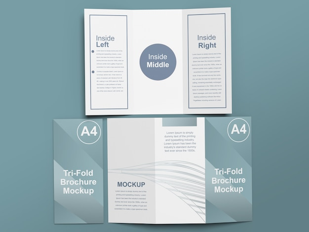 Makieta broszury potrójnej a4